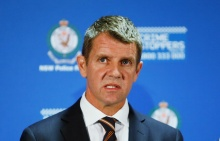 SYDNEY, AUSTRALIA - DECEMBER 16:  New South Wales Premier Mike Baird speaks during a press conference about the siege at Lindt Cafe, Martin Place on December 16, 2014 in Sydney, Australia.  Three people died after a gunman took hostages at the popular cafe and police stormed the building.  (Photo by Daniel Munoz/Getty Images)